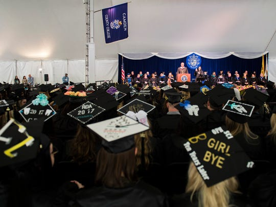 Camden County College graduates its class of 2017 Friday, May 12, 2017 in Blackwood.
