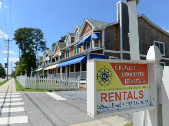 The Crossings at Bethany offered rentals on Garfield Parkway in Bethany Beach in this 2017 file photo.