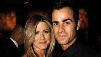 Aniston and Theroux in 2012.