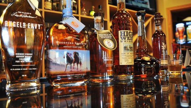 Bourbons at Old Hickory Whiskey Bar