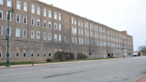 Street view of the former Allis-Chalmers building in West Allis where a hotel, offices and apartments are proposed