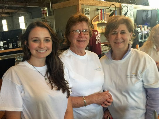 Kate Weeks, Patty Valdes and Barbara Parent competed