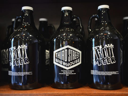 Growlers at Third Street Brewhouse in Cold Spring.