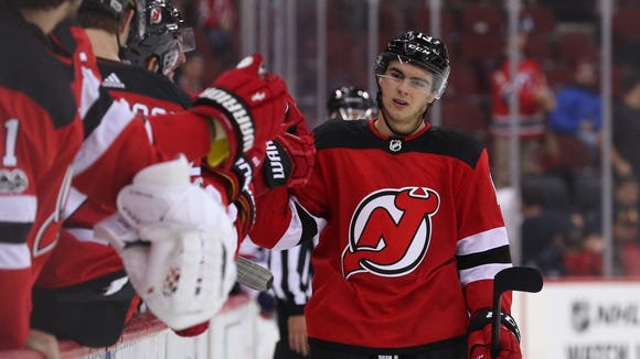 Nico Hischier was electric with two assists in the Devils' 5-4 shootout win over the Lightning.