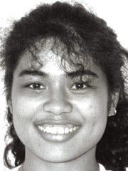 Melanie Meno Sport: Volleyball, setter School: Notre Dame High School Photo archive date Sept. 3, 1990.