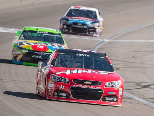 Regan Smith filled in for Kurt Busch in the No. 41