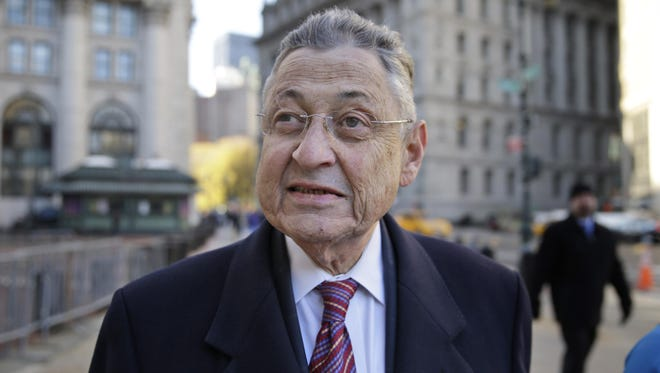 Former New York Assembly Speaker Sheldon Silver, a Manhattan Democrat who led the Assembly for 20 years, was convicted Monday on seven federal corruption charges. Former New York Assembly Speaker Sheldon Silver arrives to the courthouse in New York, Monday, Nov. 30, 2015. Silver, a Manhattan Democrat who led the Assembly for 20 years, is accused of taking more than $4 million in bribes and kickbacks. (AP Photo/Seth Wenig)