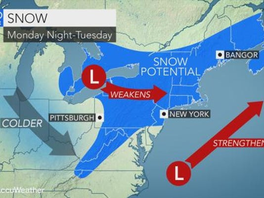 Weather forecast 1-26-18