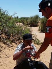 Beta Group rescues a 40-year-old man June 20 near the Jerónimo-Santa Teresa border.