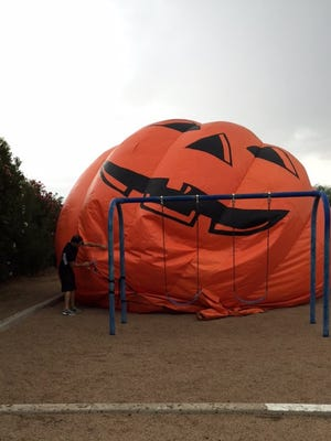 A giant inflatable pumpkin that escaped its tethers in Peoria in October 2015 captured headlines across the nation as a video went viral.