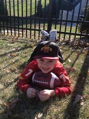 Joel Lanning's 5-year-old nephew, Emmanuel Ramos, lights