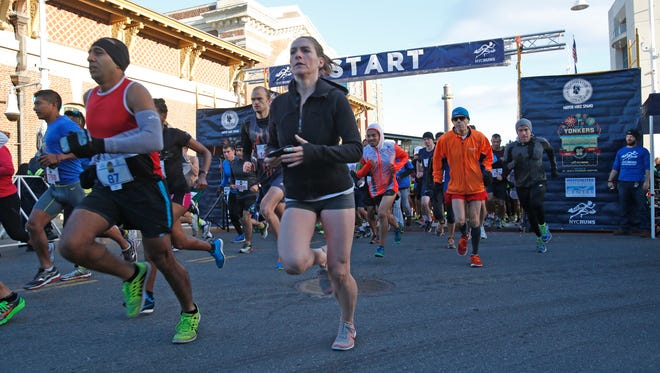 Hundreds of runners participated in the 90th Annual Yonkers Marathon on Oct. 18, 2015.  The event also included a half-marathon and the newly added 5k race.