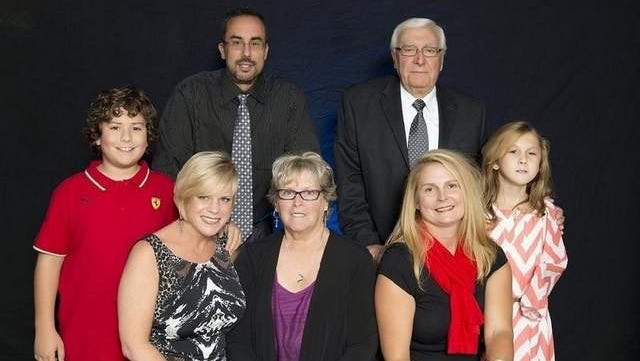 Family members of Mr. DiBiase honored him at the induction ceremony.