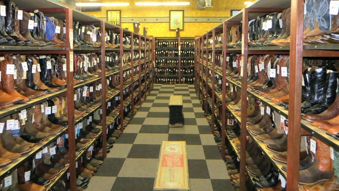 The Cavender's western wear store, set to open in Pearl in time for the Christmas holidays, will feature a selection of boots, like these found in boot row at the retailer's store in Lafayette, La.