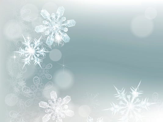 Abstract Snowflakes Snow Background