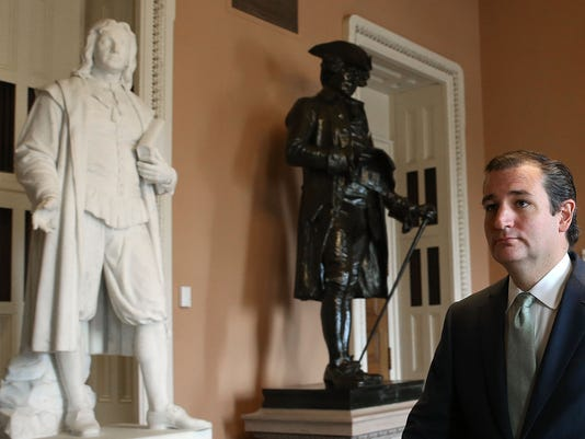 Ted Cruz at Capitol on Thursday