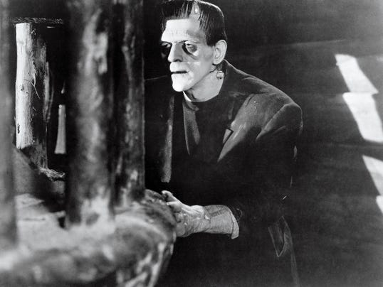 "While he was head of the Universal makeup department Jack Pierce was charged with the creation of the studio's famous horror characters, such as the original Frankenstein Monster. No wonder he was dubbed ""Jack Pierce, Maker of Monsters."""
