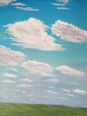 """Waynelyn Segotta painted """"Clouds on a Summer Day."""""""