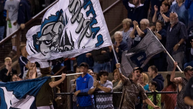 The Class 4A No. 1-ranked Reitz Panthers defeat the No. 2-ranked Central Bears, 28-21, at Central Stadium in Evansville, Ind., on Friday, Sept. 8, 2017.