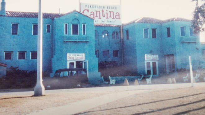 The Casino, briefly called the Cantina, (a community recreation complex that featured a dance pavilion, bath houses, shops and a restaurant on Santa Rosa Island) stood from 1931-1972 near what is now called Casino Beach.