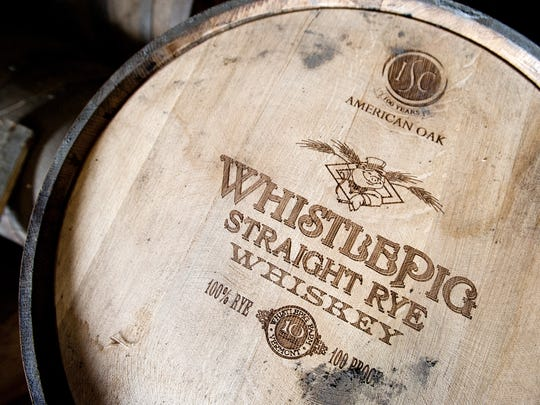 WhistlePig Straight Rye Whiskey is a 100-proof whiskey aged at least 10 years in oak barrels at WhistlePig Farm in Shoreham.