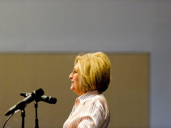 Gubernatorial candidate Marsha Blackburn speaks at