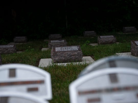 There are 30 new grave markers to remember infant orphans