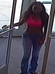 A female suspect in connection with a retail theft