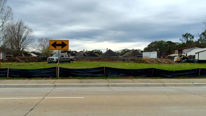 A new Dollar General is being built at 1820 Ambassador Caffery.