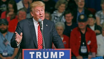 Donald Trump, Republican candidate for U.S. President, speaks for an hour on Monday October 19, 2015 in the Civic Center of Anderson, S.C..