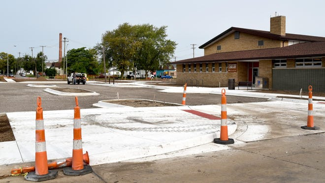A new parking lot being developed outside the Navarre Branch Library and Opportunity Center at Arthur Lesow Community Center at the corner of Second Street and Eastchester. This part of the Orchard East neighborhood is a centerpiece of a massive, yearslong effort to revitalize the community.
