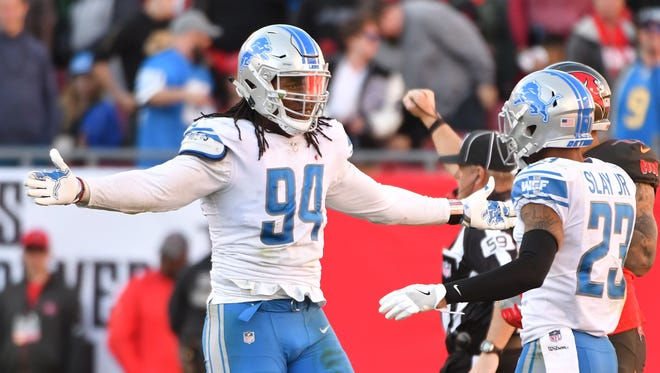 Ziggy Ansah has recorded 44 sacks in five seasons with the Lions.
