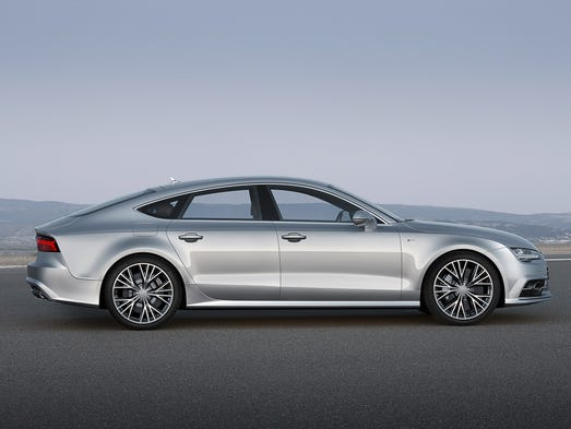 The newly reshaped Audi A7 is quite distinctive from the side