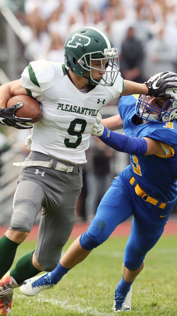 Defending champ Pleasantville and Jared Wilens (9) earned the No. 2 seed in the Class B quarterfinals and will host No. 7 Blind Brook on Oct. 20, 2017. Michael Muldoon (3) and Ardsley, the No. 4 seed, will host No. 5 Edgemont on Oct. 21.