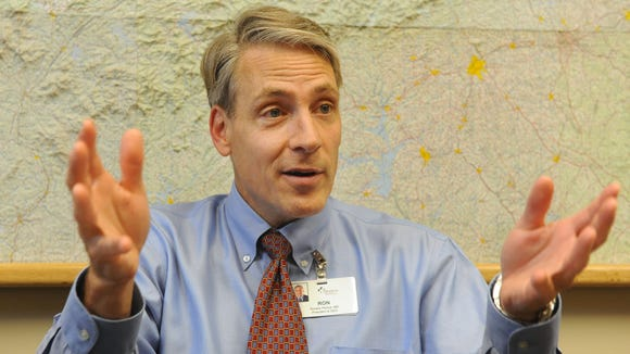 Dr Ron Paulus, President and CEO, Mission Health System, in 2010.