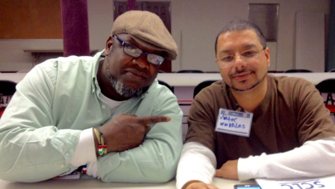 Support Connections of Lebanon County team leaders Bennie Clowers and  Victor Morales pose for a photo. SCLC  is looking for 10 volunteers willing to join a family on their journey toward self-sufficiency.