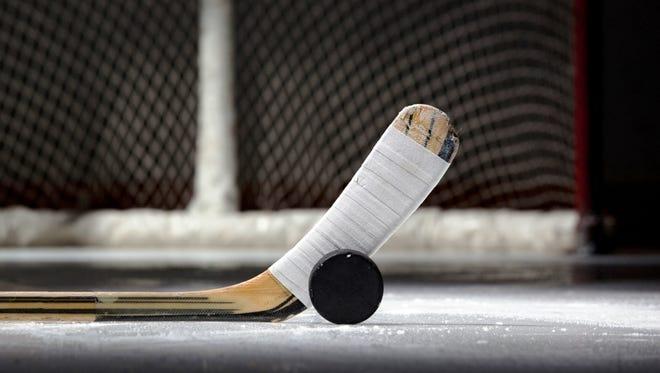 High school girls hockey.
