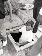 11/01/1983 - Juan Zuniga emerges from the clubhouse