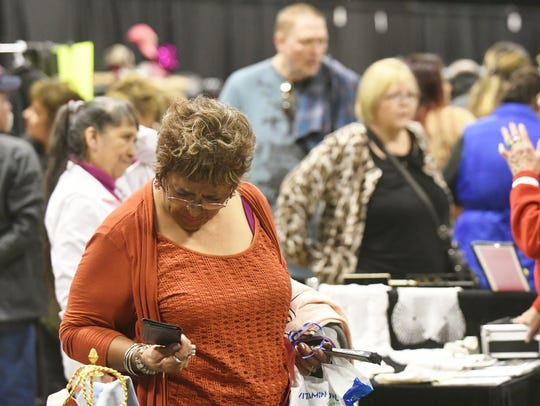 Roughly 70 vendors sold their gently used items during