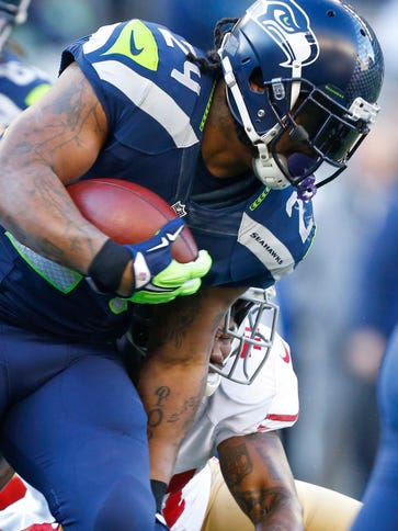 Seahawks RB Marshawn Lynch's 16 TDs lead all players