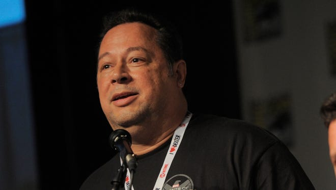 Joseph Quesada, Marvel's chief creative officer and former editor-in-chief, answering questions during Comic-Con International on Friday, July 19, 2103, in San Diego.