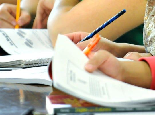 Studying school students