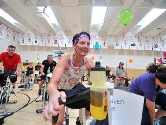 The Pedal it Forward event raises money for the YMCA's