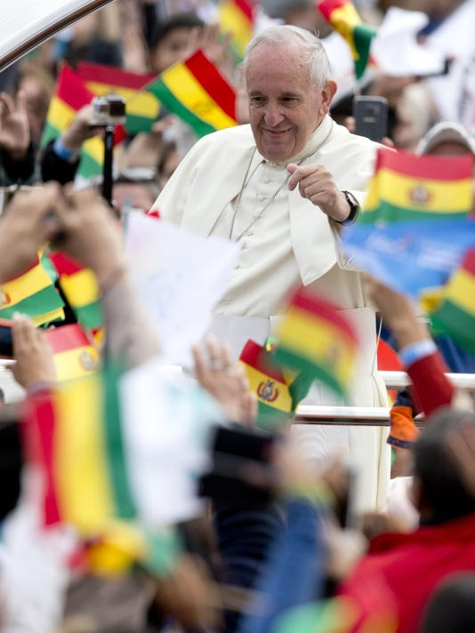 APTOPIX Bolivia Pope _Mend