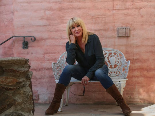 Suzanne Somers at her home in Palm Springs Wednesday,