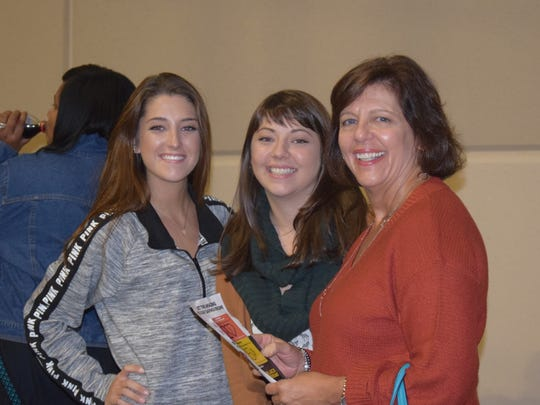 Nancy Leader and her daughters Julia, left, and Beth,