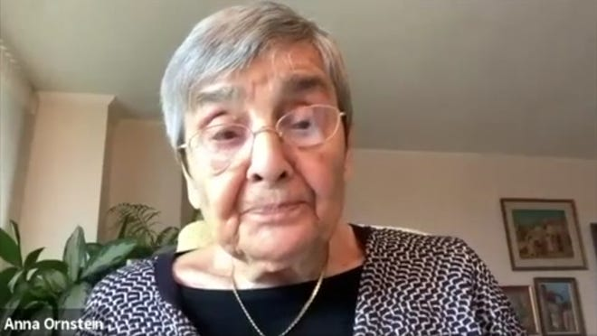 Anna Ornstein reading at home from her Auschwitz memoir for a virtual Terezín Music Foundation event.