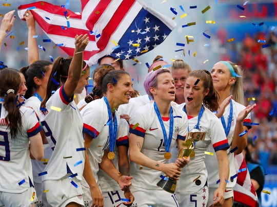 The USWNT won its fourth World Cup title in eight tournaments on Sunday.