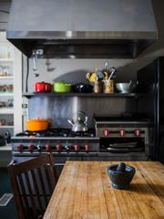 February 13, 2018 - Kitchen in a 98-year-old house that's for sale at 1650 N. Parkway. The home was built by Judge Frank M. Gutherie.