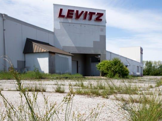 The long-abandoned Levitz Furniture building on Indianapolis'